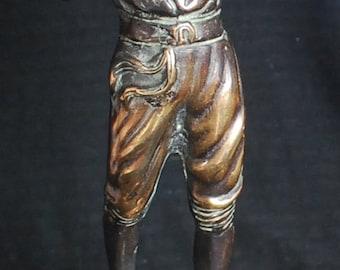 "Metal sculpture ""Playing flute"". 9"" tall"
