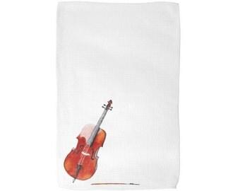 Cello Music Instrument Kitchen Tea Towel