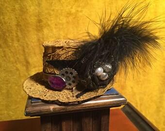 Gold Mini Top Hat