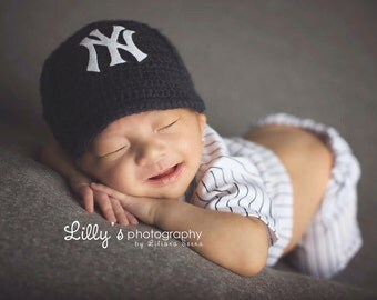 Baby Baseball Cap, Hat, Yankees inspired, Made to Order