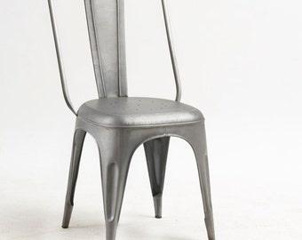 2 x Cosmo industrial gun metal grey chair - Vintage industrial look