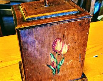 Antique hand made vintage box / tea caddy