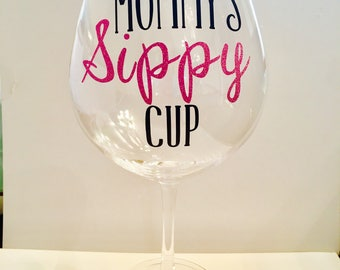 Mommys sippy cup sticker decal