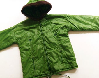 134/140 jacket DDR ParKa 70s VinTage jacket 8-9Y oldSchOol