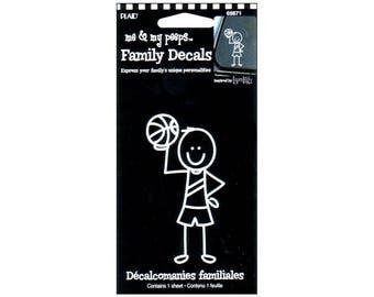 White Vinyl Family Decals, Me & My Peeps