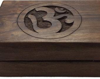 Om Wooden Storage Box