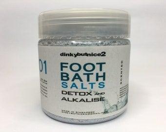 150ml Aromatherapy DETOX & ALKALISE Natural Dead Sea Foot Bath Salts / Lavender Essential Oil