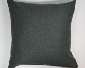 Woven herringbone cushion in charcoal grey (cushion pad included)