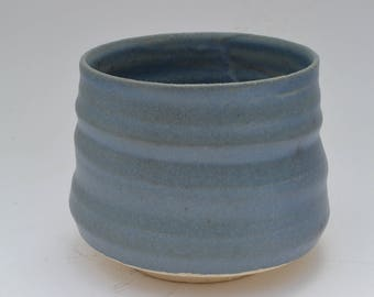 Cup to trace elements active, made on a lathe, light blue, object of use, perfect gift for any occasion