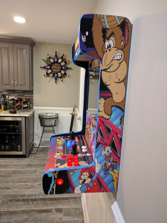 Unique Wall-Mounted Arcade cabinet. Custom Built for you.
