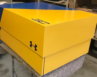 Under armour Steph curry shoe box, oversized shoe box, Jordan shoe box, wood shoe box