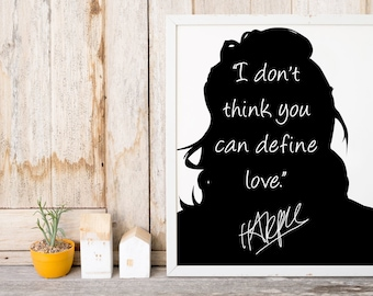 "Harry Styles ""I Don't Think You Can"" Art Print"