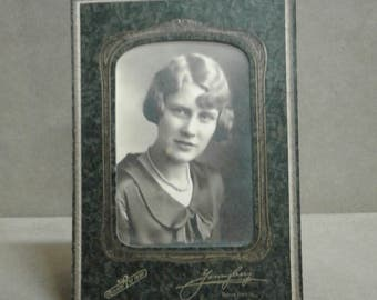 Vintage Class Photo In Frame 1930