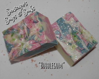 Handmade Artisan Soap with a Bubblegum Fragrance