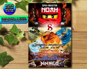 Ninjago / Ninjago Invitation / Ninjago Birthday / Ninjago Party / Ninjago Birthday Invitation / Ninjago Printable / Lego Ninjago / Lego