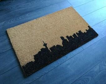 Vancouver skyline doormat