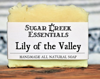 Handmade Natural Organic Soap, Lily of the Valley Soap Bar