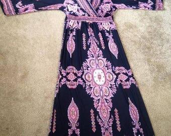 2x V-Neck Long Dress
