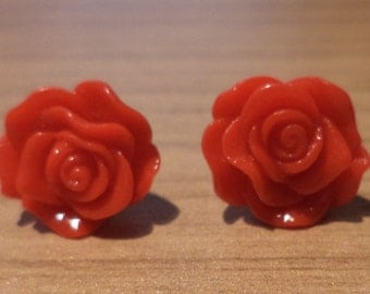 Earrings Rose, earring, earrings, flower