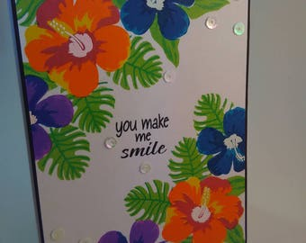You Make Me Smile Card, Just Because Card, Friendship Card