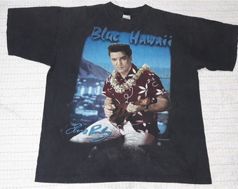 vintage ELVIS PRESLEY 1995 t shirt blue hawaii size xL made in usa