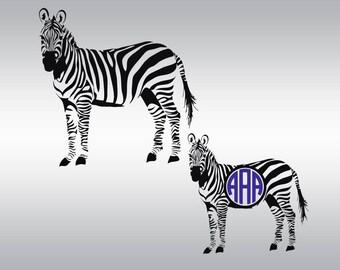 Zebra svg file, Zebra svg, Zebra clipart, Zebra silhouette, Zebra monogram svg, Zoo svg, Animal svg, Cricut, Cameo, Svg, DXF, Png, Pdf, Eps