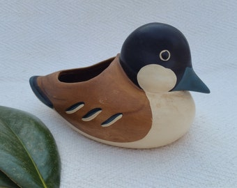 Small Vintage Ceramic Duck Planter