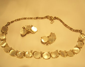 Lisner Necklace and Earrings Set, Signed