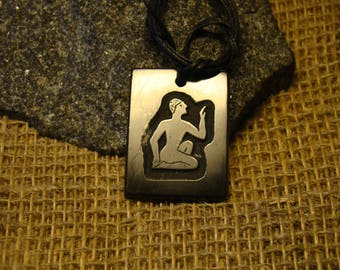 """Shungite pendant """"symbol of a man"""" is an exclusive from Karelia."""