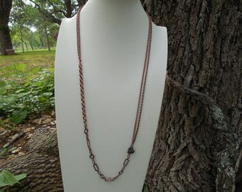 Antiqued Copper Rustic Necklace