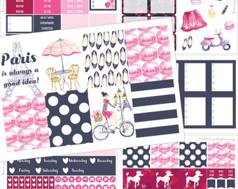 REDUCED (OLD FORMAT) Dreaming of Paris | Planner Stickers Erin Condren | Vertical Layout | Glossy or Matte