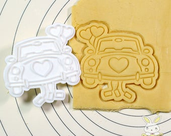 Honeymoon Car Cookie Cutter and Stamp