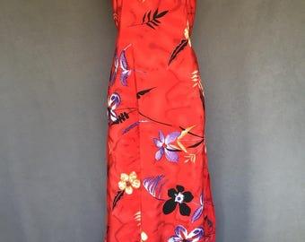 Vintage Island Girl Hawwaiin Dress Medium