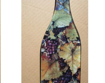 Flat Wine Bottle  Cheese Cutting Board Wall Hanging Home Decor