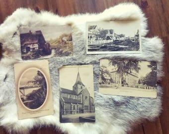 5 Vintage 1910's postcards