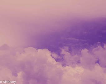 Pink clouds color photography