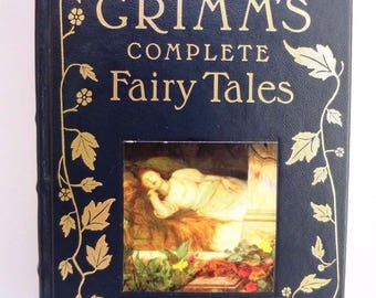 Vintage Grimm's Complete Fairy Tales Barnes and Noble Leatherbound '93 NEAR MINT