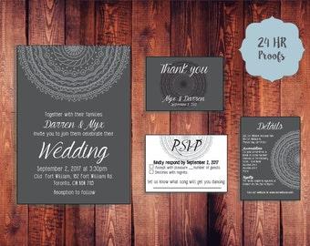 Mandala Wedding Invitation Kit