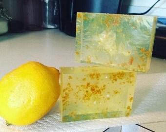 Lemon Zesty Soap Bars, glycerin soap, soap, lemon