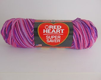 Plum Pudding Red Heart Super Saver variegated yarn worsted weight  - 1023