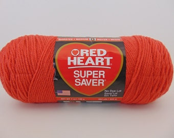 Coral -  Red Heart Super Saver yarn worsted weight - 1035