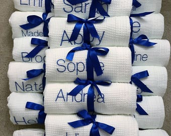 Spa Bath Wrap, Spa Wrap, Towel Wrap, Waffle Towel Wrap, Monogram Towel  Wrap