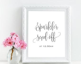 Custom wedding send off sign, Sparkler send off printable sign, Wedding sparklers sign, Rustic wedding signs, Rustic wedding decorations