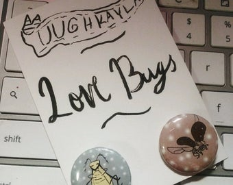 "1""  Love Bug Button Pack"