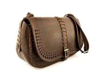 leather purse-leather bag-leather shoulder bag-leather cross body bag-brown leather bag-handmade-womens leather bag-crossbody purse