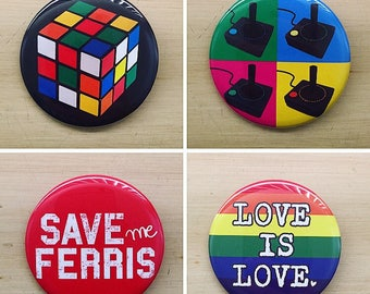 Pop Culture Pinback Buttons