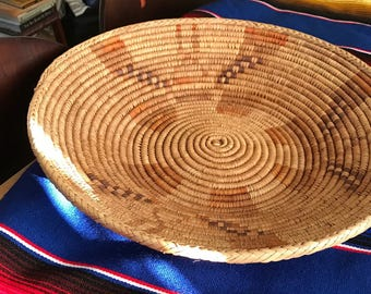 Beautiful Vintage Coil Basket  ** reduced pricing