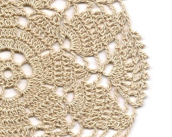 Eco Friendly Crochet Doily Lace Lacy Doilies Elegant Cotton Table Decor French Romantic Shabby Chic Wedding Retro Vintage Natural Beige