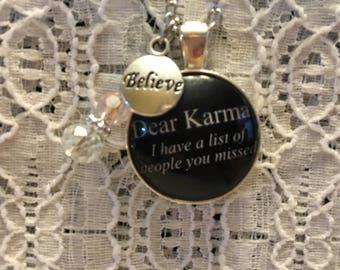 Karma Charm Necklace/Karma Charm Pendant/Karma Jewelry/Karma Gift