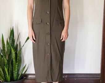 Vintage Button-Up Dress